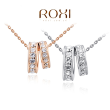 8.19 ROXI brand 2014 fashion necklace rose Gold Crystal Necklace pendants with austrian crystal  necklace trendy fashion jewelry