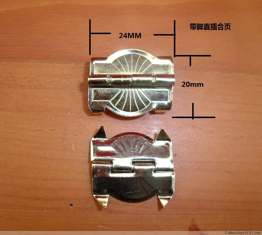 24*20MM Packaging metal hinge Hinge legs Flat Hinge-line Jewelry box hinge(China (Mainland))