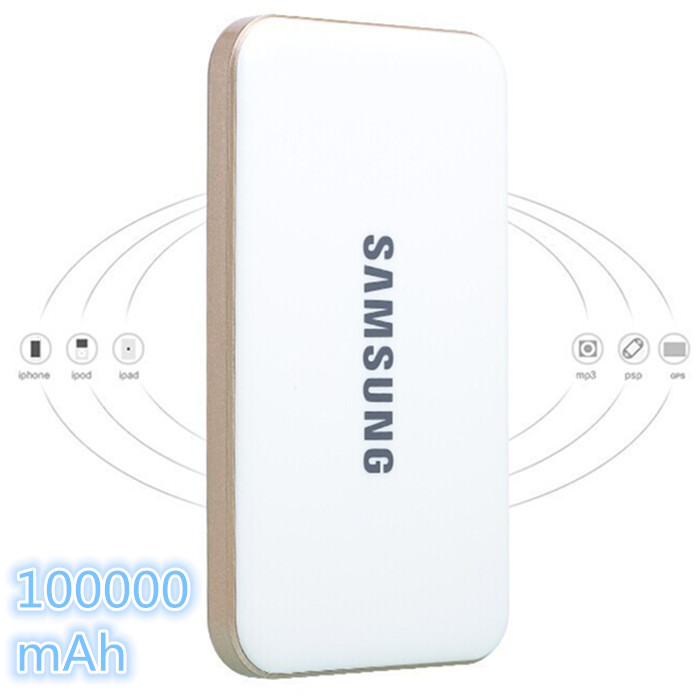 ultra-thin portable power bank 100000 mAh rechargeable external battery charger for IPHONE6 / 5 / SMAUSNG HTC xiaomi charge(China (Mainland))