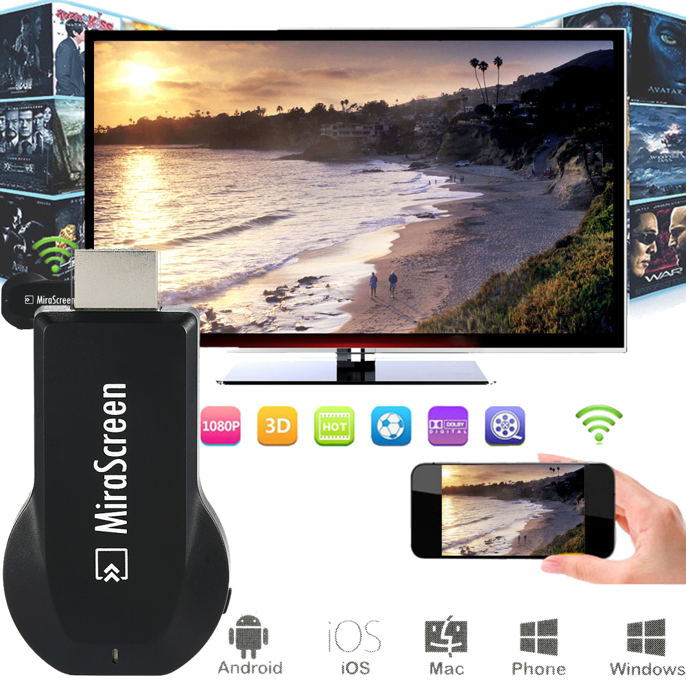 MiraScreen OTA TV Stick Dongle Better Than EZCAST EasyCast Wi-Fi Display Receiver DLNA Airplay Miracast Airmirroring Chromecast(China (Mainland))