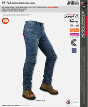High quality Men KOMINE PK-718 Kevlar Denim Jeans PK 718 Motorcycle Motocross Moto Pants Jeans With 4 Protector Pad plus size(China (Mainland))