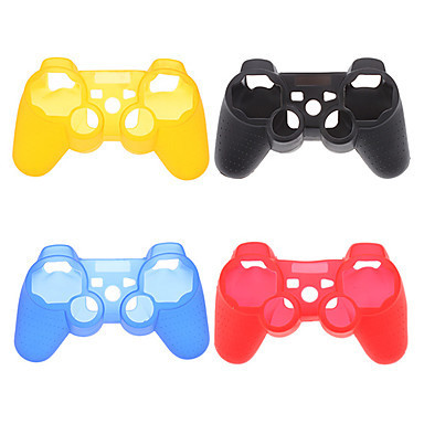 10 pcs/lot sale High Quality kinds of color Silicone Rubber Skin Cover Protective Case for PS3 Controller(China (Mainland))