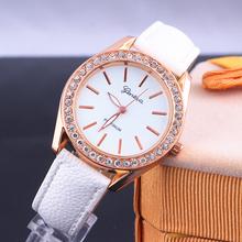 2014 new fashion belt luxury brand models Women Dress Watch GENEVA essential