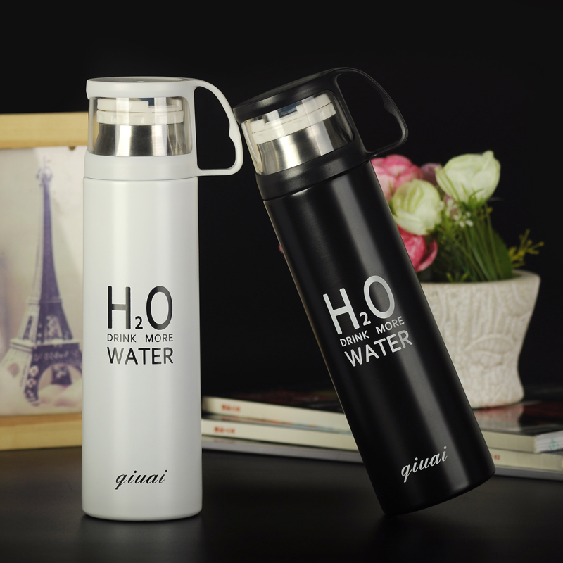 Hot Sales! Fashion new acuum cup stainless steel thermal pot portable lovers tea cup glass for friends best gift 500ml Vacuum(China (Mainland))