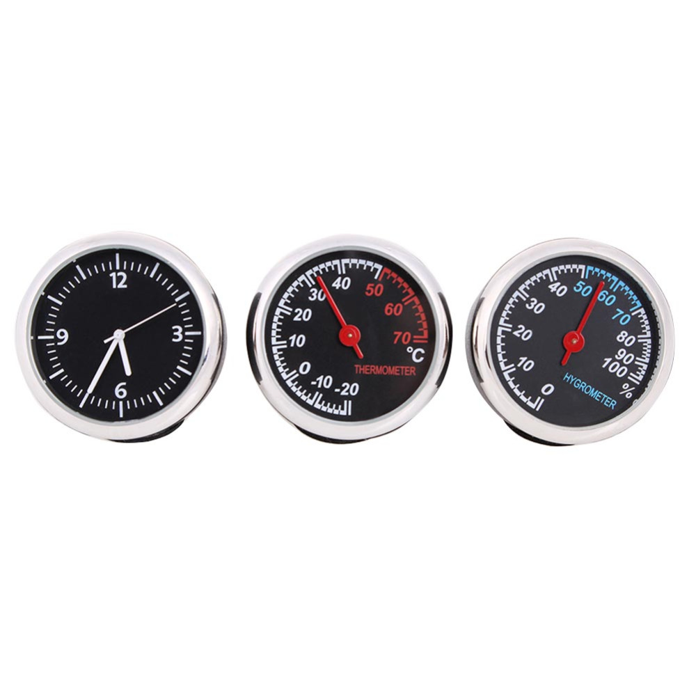 40mm Triple Kit Temperature Gauge Humidity Gauge Clock Car Meter Auto Gauge Multifunction Car Automobiles Thermometer Meter(China (Mainland))