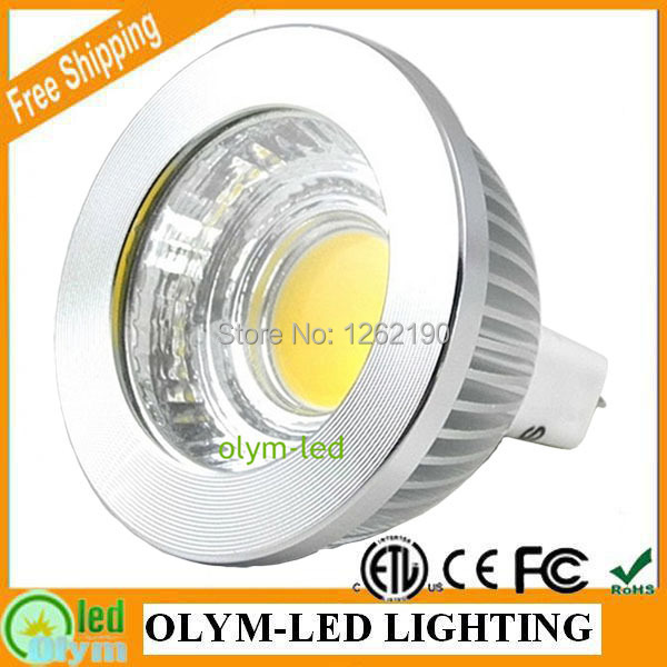 10X Energy Saving 5W MR16 LED Spot Light Warm/Cold white Free Shipping Dimmable MR16 COB 12V, CE/RoHS 3 Year Warranty<br><br>Aliexpress