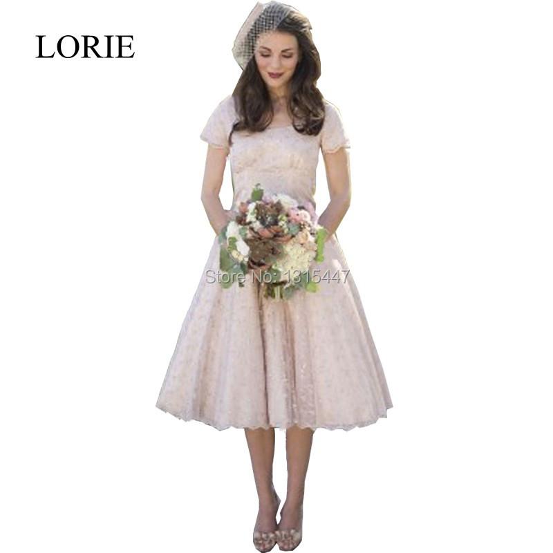 Popular Champagne Colored Tea Length Dress Buy Cheap Champagne Colored Tea Length Dress Lots