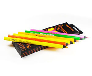 Marco Rough triangle pen 6 colors , pencils special for black paper    9205b-06 <br><br>Aliexpress