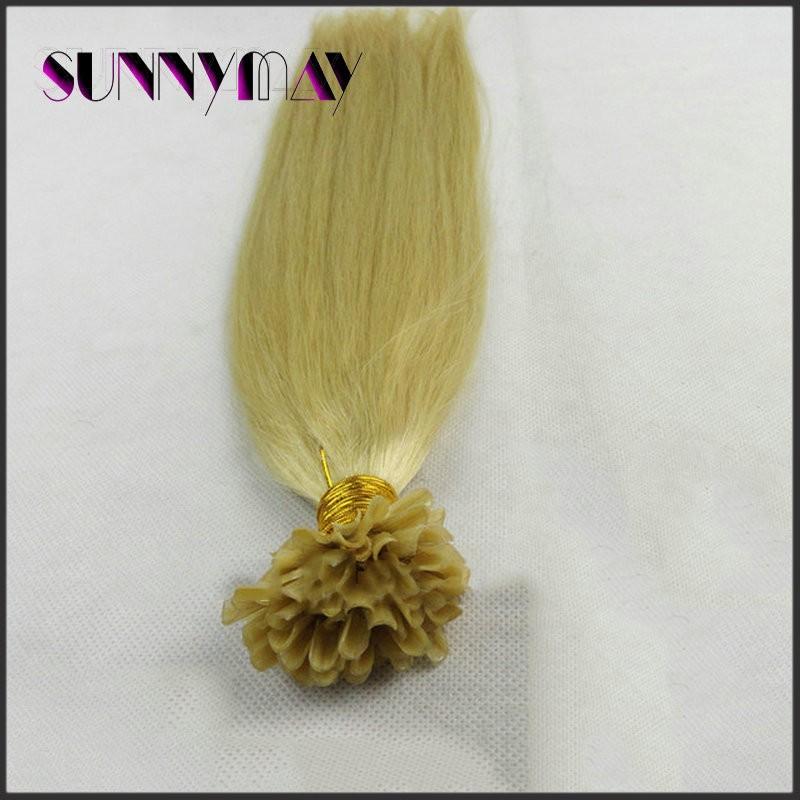 Sunnymay Hair 8A Unprocessed Straight Virgin Malaysian Human Hair #613 Blonde 1g/strand U/Nail Tip Keratin Human Hair Extensions