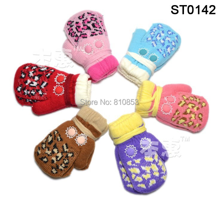 5pairs/lot New Cute Fashion Children's Mittens Warm Crochet Knitted Gloves Baby Winter Gloves Boy Girl Mittens For Kids #1003(China (Mainland))