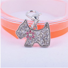Rhinestone Dog Accessories Personalized Collar Charm Pet Tag Grooming Products For Animals