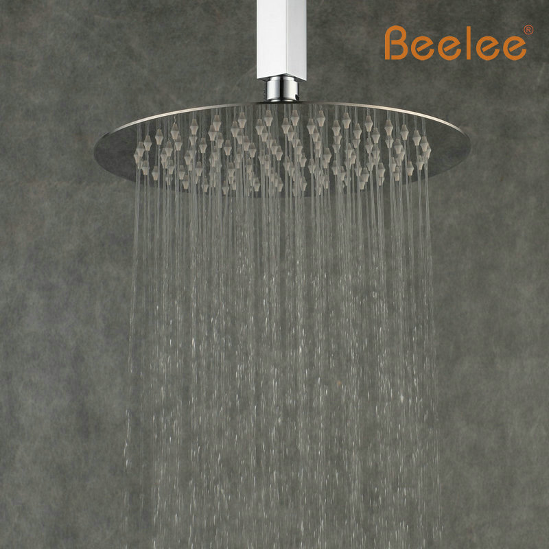 Bathroom 25cm 25cm Round Stainless Steel Ultra Thin Inch Rainf