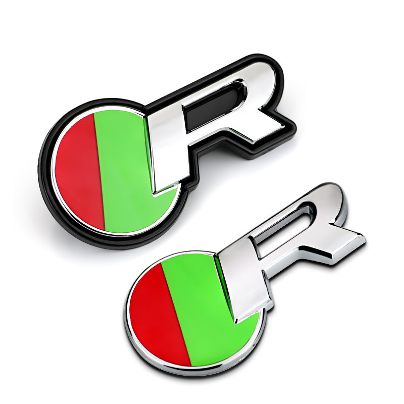 Red Green Round R Logo Quality ABS Car Styling Refitting Emblem Badge 3D Sticker / Grille for Jaguar XF XJ Racing Sport Mark(China (Mainland))