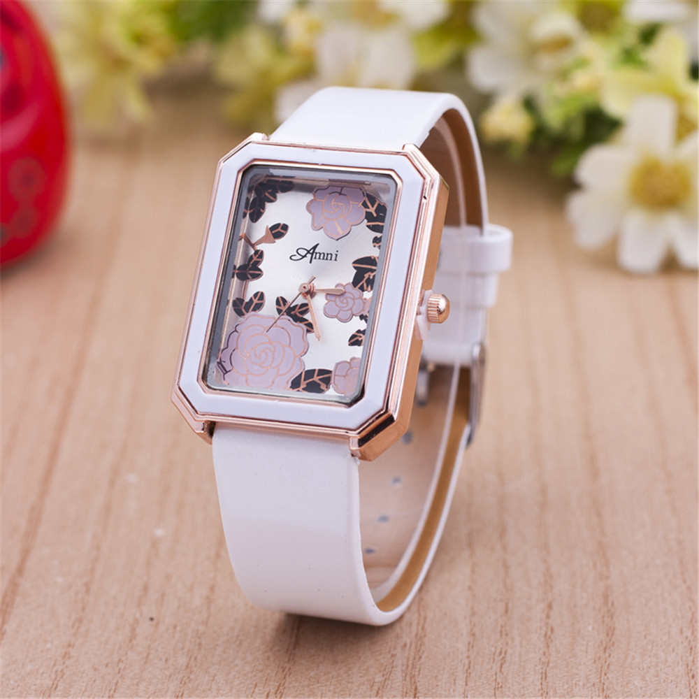 2016 New Square Face Geneva Watches Garden Beauty Flower Printing Women Casual Watches Relogio Feminino relogio masculino<br><br>Aliexpress