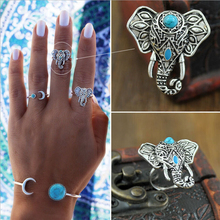 2015 Hot Sell New Bohemian Elephants Ring in Turkish National wind Retro Finger ring Europe and America Jewelry Wholesale R-76(China (Mainland))