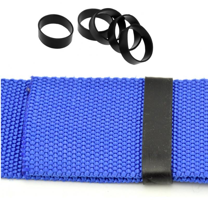 5Pcs Rubber Fixed Rings for 5cm Scuba Diving Webbing Dive Weight Belt Underwater Tank Backplate Strap Outdoor Backpack Harness