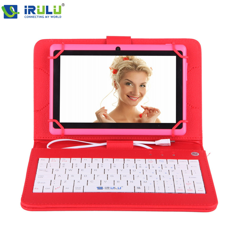 """IRULU eXpro 7"""" Tablet PC 8GB ROM Quad Core Android 4.4 Tablet Dual Camera USB 3G WIFI Tablet W/Red Keyboard Case 2015 New Hot(China (Mainland))"""