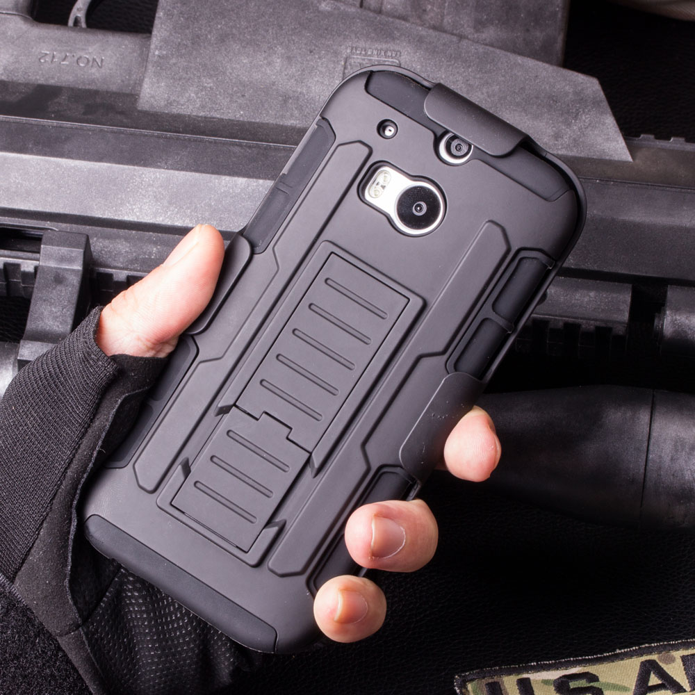 For HTC One M7 M8 M9 Case Rugged Armor Impact Holster Shockproof Hard Back Cover Case For HTC One M7 M8 M9 Cell Phone Bags Cases(China (Mainland))