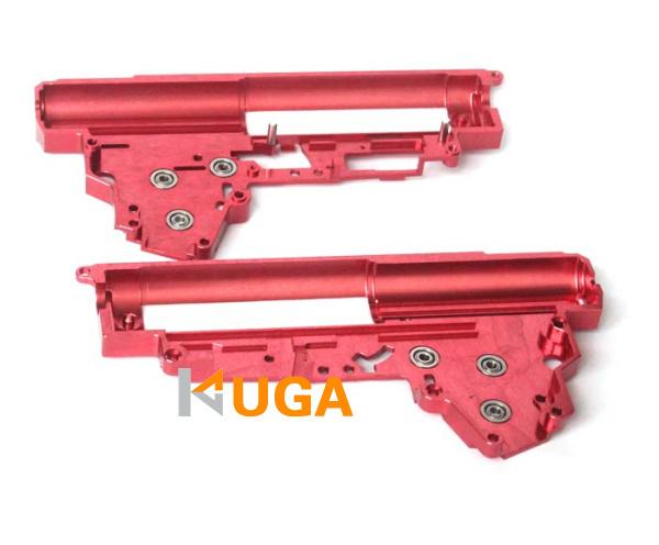 KUGA CNC 7075 Aviation Aluminum 8mm Enhanced Bearing Ver3 Gearbox for Airsoft AK / G36 AEG