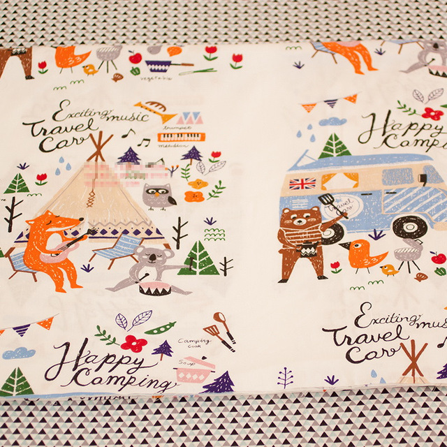 Camping Print Fabric Promotion Shop For Promotional