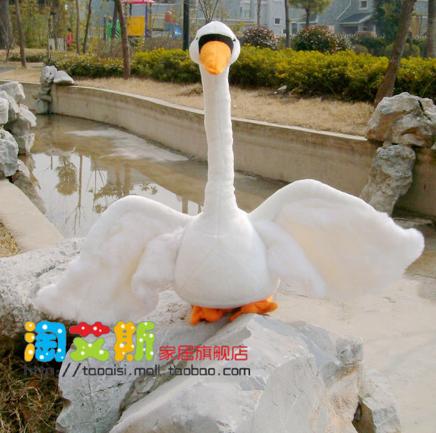 Фотография new big creative plush swan toy lovely white swan toy gift swan doll about 55cm
