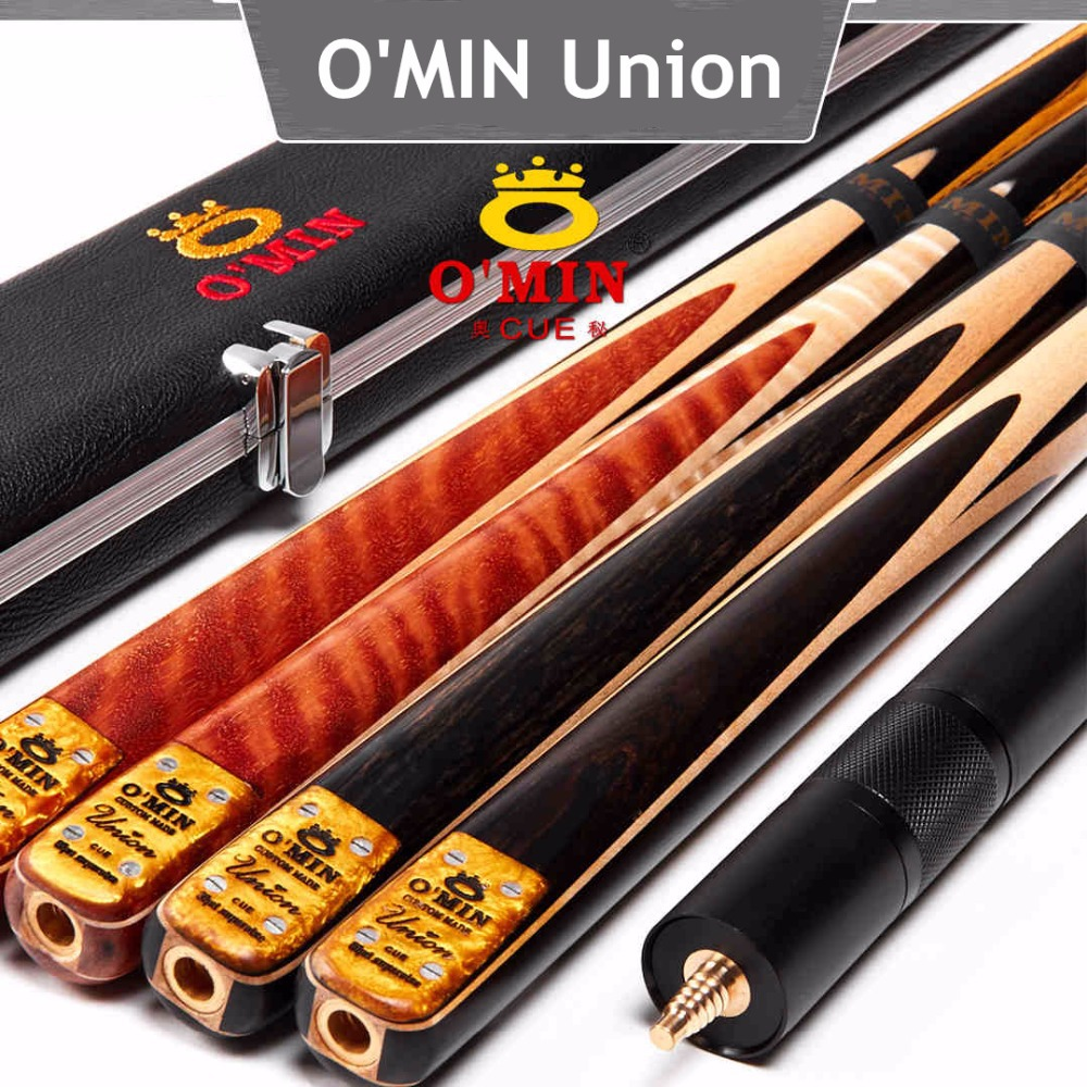 OMIN Union Snooker cue with extension,cue Case,ash wood,one piece cue,snooker stick,billiard pool cue ,Free shipping by Fedex(China (Mainland))