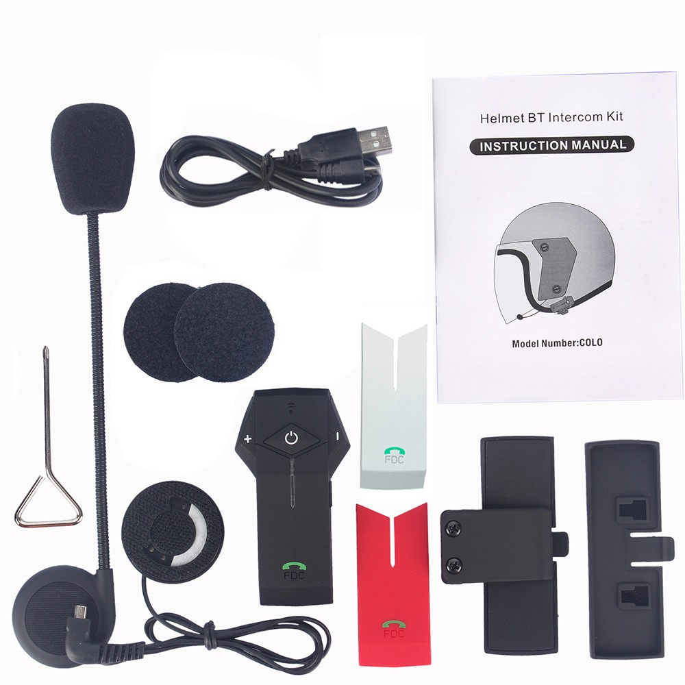 NFC ! 2PCS 800M motorcycle intercom Hi-Fi Motorcycle Intercom BT Interphone Wireless motorcycle bluetooth Helmet Headset with FM