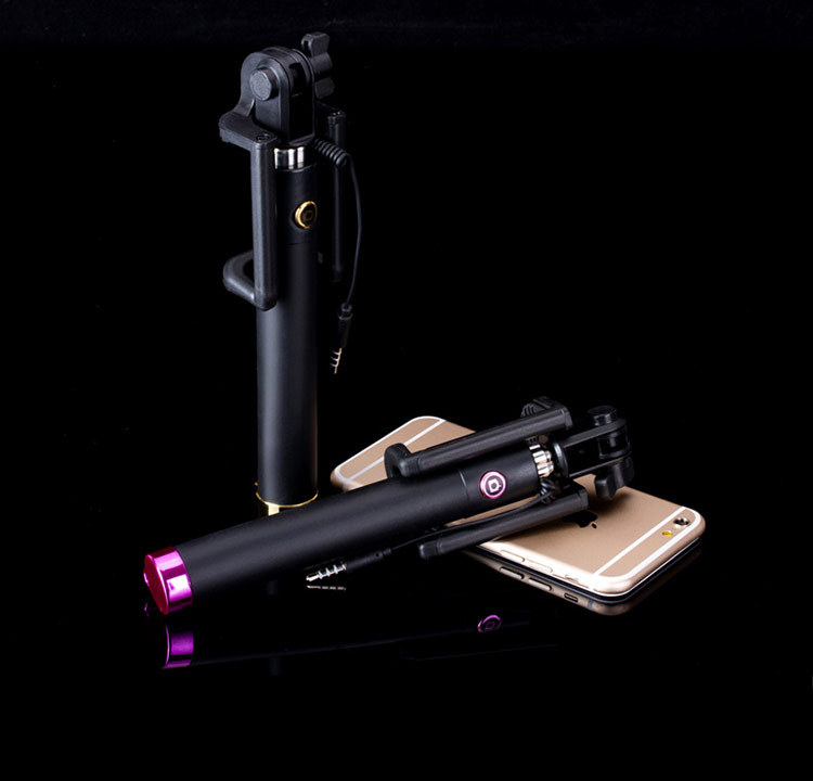Luxury Universal Selfie Stick Monopod for Iphone 6 Plus 5s Wired Palo Selfie For SAMSUNG Android