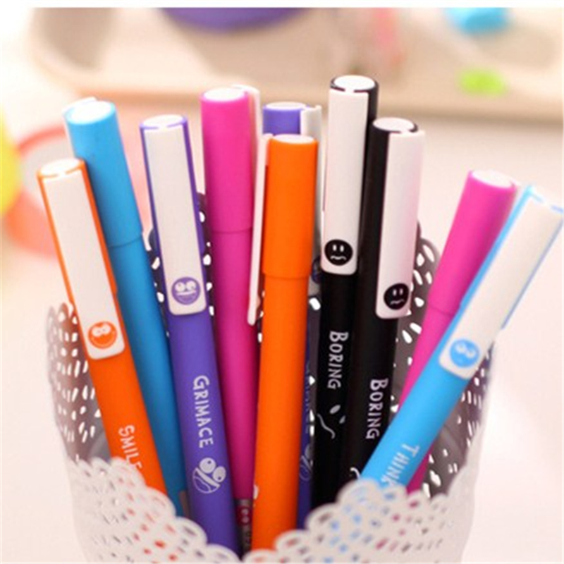 60 pcs/Lot Lovely face gel pens Exress Grimace smile boring think black ink pen Stationery Office material school supply<br><br>Aliexpress