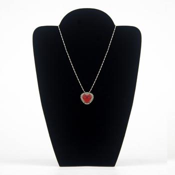 Wholesale 4 Necklace Display Stand Holder Board Jewelry Rack Velvet Black