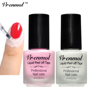 Vrenmol 1pcs Finger Skin Protected Glue Peel Off Liquid Nail Art Latex Tape Base Coat Care Nail Art Palisade Cuticle Cream