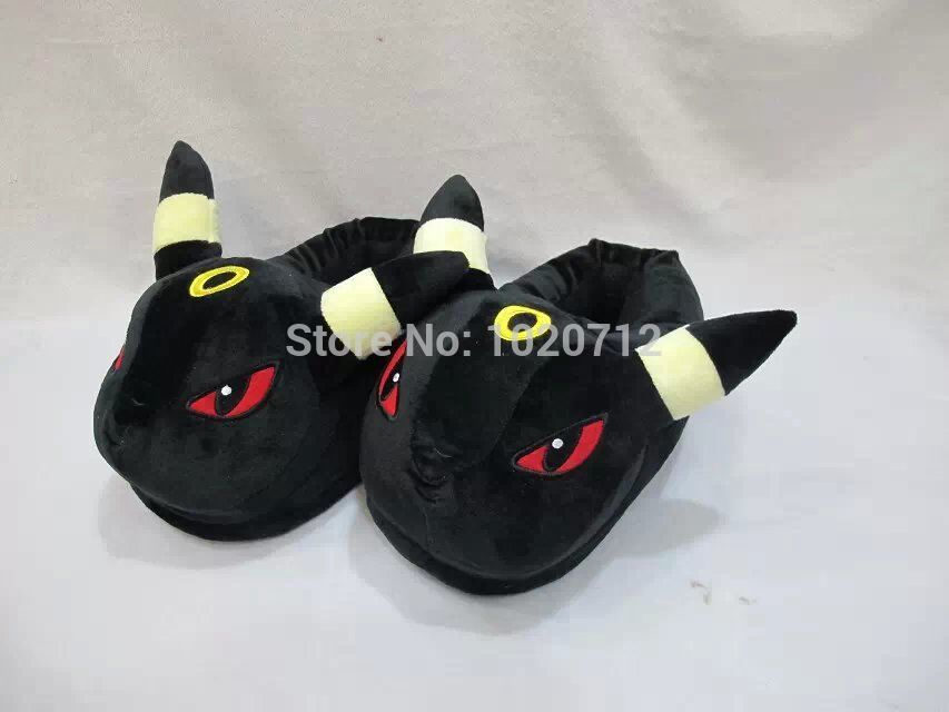 Pokemon Umbreon Cute Anime Cartoon Plush Indoor Bedroom Winter Slipper Free Shipping<br><br>Aliexpress