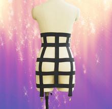 Summer style women sexy black handmade body harness Harajuku Gothic bondage harness Pole dance skirt Bundled Sexy Lingerie