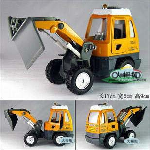 Engineering Vehicles Shovel Car Pull Back Acousto Optic Mini Kids Toys Car Alloy Car Model Wholesale Free Shipping(China (Mainland))