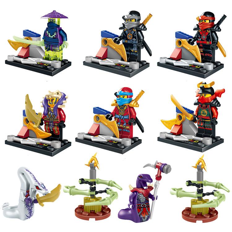 Гаджет  8 pcs/set Ninjago Marvel Building Blocks Phantom Ninja Action playmobil Minifigures Juguetes Ninjagoed Toys Legoe Compatible None Игрушки и Хобби