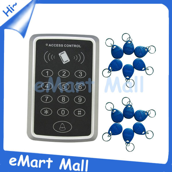 Free shipping RFID Proximity Door Access Control System RFID/EM Keypad Access Control 125KHz Access Controller 10 cards<br><br>Aliexpress
