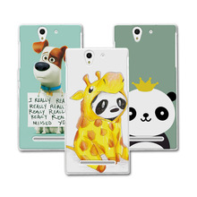 """Buy Newest Arrived Painted Dog Bear Case Sony Xperia C3 S55T S55U D2533 Dual D2502 Case Cover 5.5"""" funda Sony Xperia C3+Gift for $1.35 in AliExpress store"""