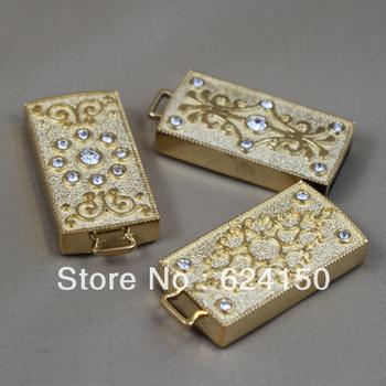 freeshipping 2gb 4gb 8gb 16gb 32gb 64gb  u falsh disk jewellery  bling gold flash drive for retail sale