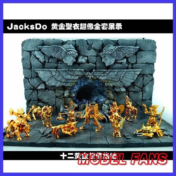 MODEL FANS Jacksdo -Saint Seiya Cloth Myth Cloth over like a full set of 12 Gold plated engraved Wall sigh