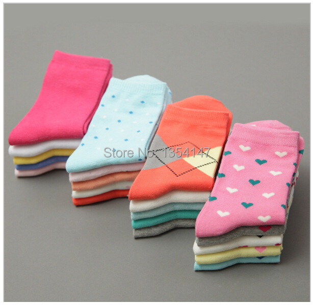 women socks high quality long warm all cotton blends candy color in tube socks factory outlet socks women spring-autumn-winter(China (Mainland))