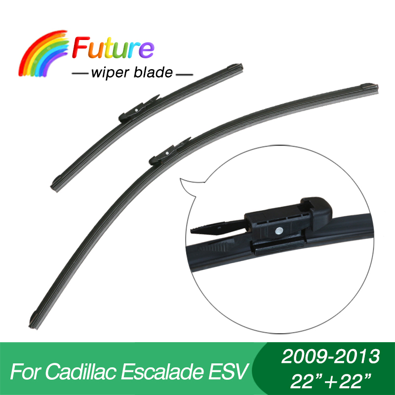 "1 set Wiper blades for Cadillac Escalade ESV(2009-2013),22""+22"",car wiper,Boneless wiper, windscreen, Car accessory(China (Mainland))"