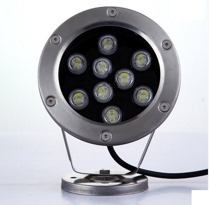 9W LED underwater lights single color waterproof light fish tank pond pool water surface shell accessories IP68 DC 12 to 24 V(China (Mainland))