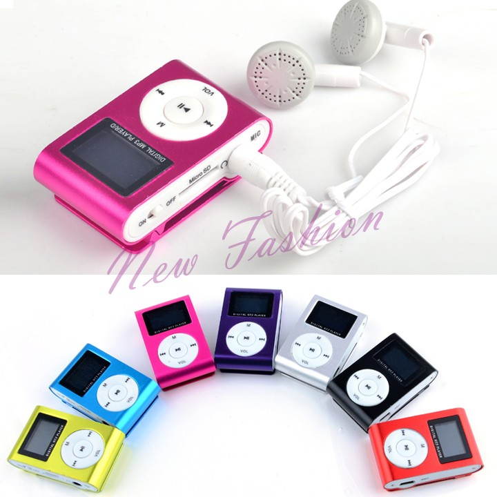 Big Discount Cheap LCD Screen Metal Mini Clip-on MP3 Player +Cable +Earphone Wholesale Drop Shipping 34(China (Mainland))