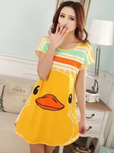 Livre Mulheres envio Nightgown Impresso, Fofo Meninas Pijamas, New Design Senhoras Verão 'Camisa de Noite, Roupa de Noite Salão