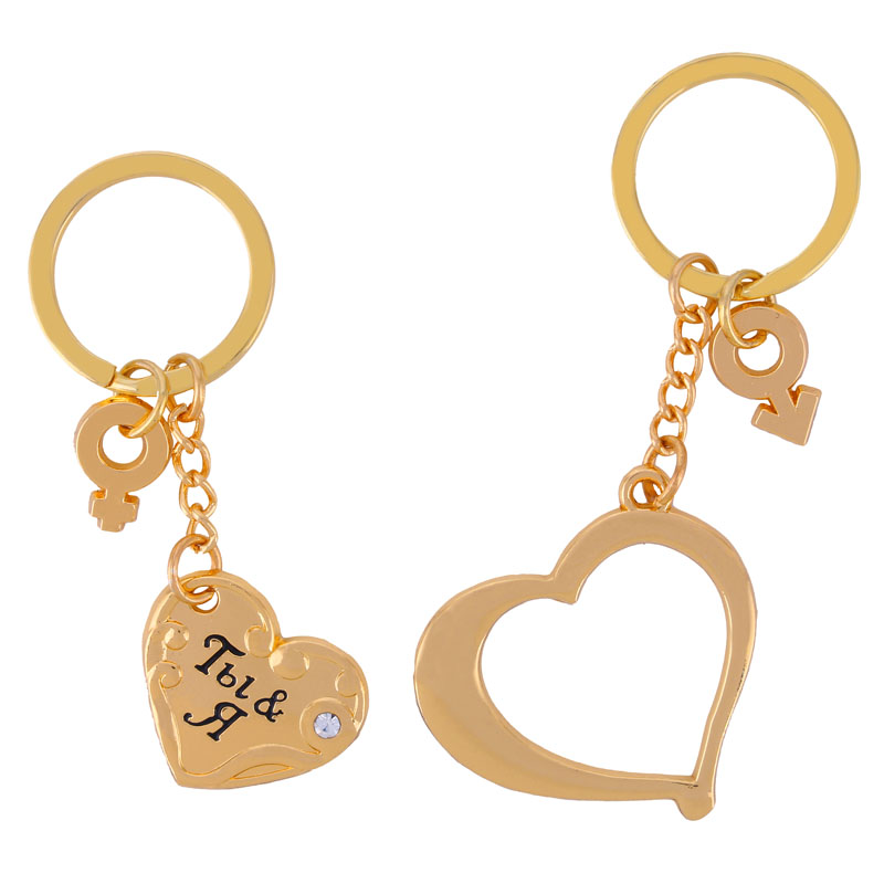 "keychain wedding favors valentine day gift for women Keychain for the couple ""Together Forever"" wedding souvenir box(China (Mainland))"