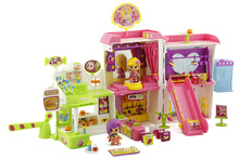 Hot Kawaii Pinypon Pin Y Pon doll with block shopping center house for kids toys(China (Mainland))
