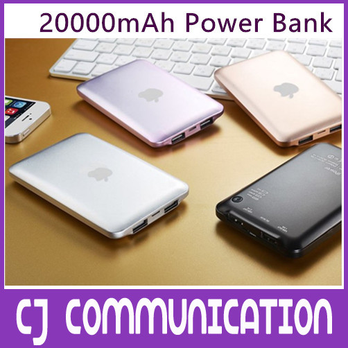 Bateria Externa Power Bank 20000mah Carregador Bateria Externa chargeur portable Battery Powerbank 20000 Backup For iPhone 4 5 6(China (Mainland))