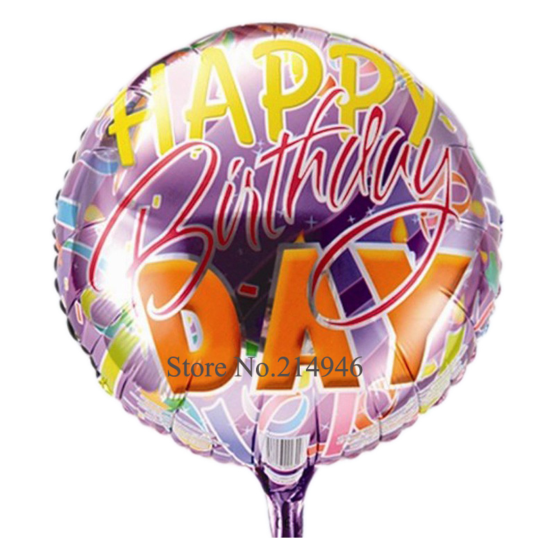 18Inch Aluminum Purple happy birthday balloons(China (Mainland))