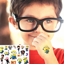 Despicable Me Children Flash Tattoo Sticker 17*10cm Waterproof Henna Tatto Summer Style Tatoo Temporary Body Art FREE SHIPPING