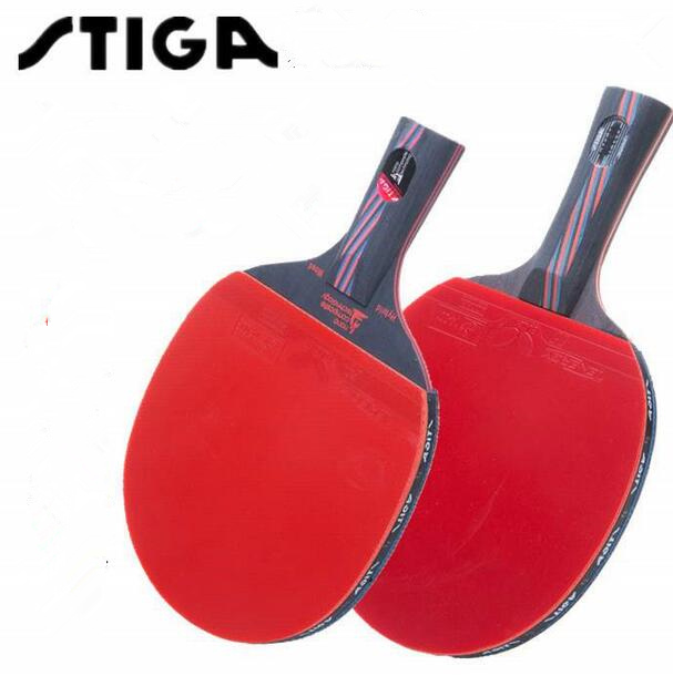 STIGA Hybrid Wood 9.8/7.6 Brand Quality Table tennis racket double face Pimples-in rubber Ping Pong Racket tenis de mesa()